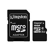 Kingston 16GB microSDXC Class 10 Flash Memory Card with SD Adapter