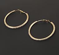 moda 6 centimetri diamantato cerchio forma orecchino del cerchio (1 coppia)