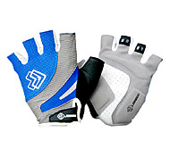 LAMBDA Blue Road Bike Anti-skid Half Finger Cycling Gloves