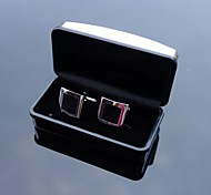 XINCLUBNA® Black and Silver Handmade Multi-Slice Mens Cufflinks Gift Box Packing (1pair)