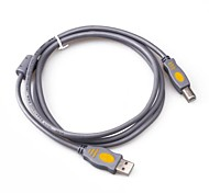 USB2.0 A Male to B Male Gray Printer Cable 1.5M 5FT