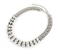 Рок Панк золото / серебро гальваническим колье ожерелье