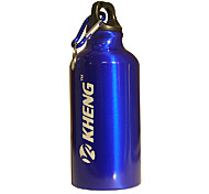 KHENG 400ML Aviation Aluminum+Healthy Plastic Blue Warm Keeping Cycling Water Bottle