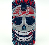 For Samsung Galaxy Case Pattern Case Back Cover Case Skull PC Samsung S5