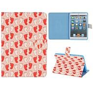 lindo flip huella caso folio magnético para Mini iPad 3, iPad Mini 2, mini ipad