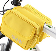 ROSWHEEL 1L 600D Polyester and PVC Yellow Waterproof Cycling Frame Bag