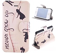 The Angel Design PU Full Body Case with Card Slot and Stand for iPhone 4/4S