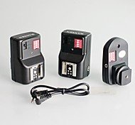 WanSen Universal 16 canales de radio remoto inalámbrico de disparo de flash Speedlite CON 2 Receptores para Canon Nikon Pentax