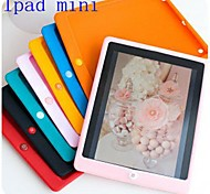Solid Color Silicone Back Case for iPad mini 3, iPad mini 2, iPad mini