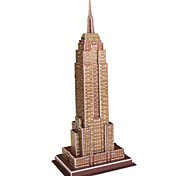 Jigsaw Puzzles 3D Puzzles Building Blocks DIY Toys Famous buildings Paper Brown Model & Building Toy