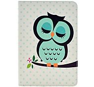 Motif Hibou cuir PU Full Body dormir avec support pour iPad Air