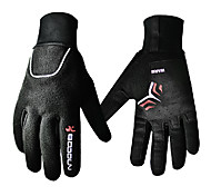 Glove Cycling / Bike Women's / Men's / All Full-finger Gloves Windproof Winter Black S - BOODUN