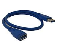 0.6m 2ft USB 3.0 Tipo A maschio a una spedizione gratuita femmina cavo di estensione di dati super veloce