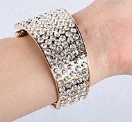Fashion 5.7cm Women's Silver and yellow brown Alloy Bracelet