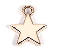 Legierung Sterne diy Charme-Anhänger&Halskette (10 Stück pro Packung)