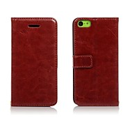 Litchi-Grain PU Leather Flip Case for iPhone 5C
