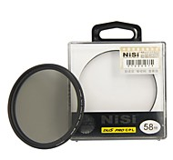 lente de filtro polarizador circular ultra delgado de 58 mm nisi pro cpl