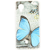 Kinston Blue Butterfly Pattern TPU Soft Back Cover Case for Google LG Nexus 5