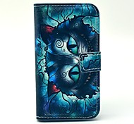Cool Cat Cartoon Pattern PU Leather Case with Card Holder for Samsung Galaxy Trend Duos S7562