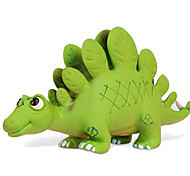 Stegosaurus Dinosaur Model Rubber Action Figures Toy(Green)