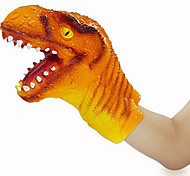 Dinosaur Head Hand Gloves Rubber Action Figures Toy