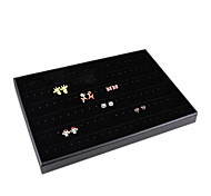 Classic Slap-up Earrings Jewelry Stand Black Paper Flannelette Jewelry Boxes(1 Pc)