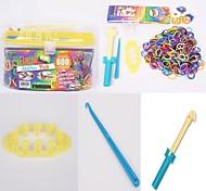 BaoGuang®Fashion Loom Random Color Bands Set(600Pcs Bands,1Pag Clips,2 Hook,1 Loom,8Pcs Pendant)