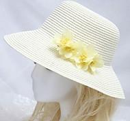 Frauen am Meer Sonnenhut mit gelber Blume