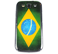 Vintage Pattern Bandeira Brasil volta caso PC para Samsung S3/I9300