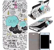 The Fault In Our Stars Pattern Clamshell PU Leather Full Body Case with Card Slot for iPhone 5/5S