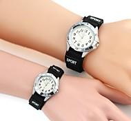 Geliebten Sport Weiß Nylon Band-Armbanduhr (2 Stück)