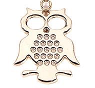 alliage hibou bricolage charme des pendants d'oreille&collier (10 pcs par paquet)