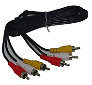 4ft 3 RCA Stereo Video Composite Cable  Male to Male