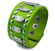 Fashionable Rivets Leather Bracelet