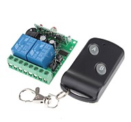 12V 2-Channel Learning Code Wireless Remote Power Relay Module with Remote Controller (DC28V - AC250V)