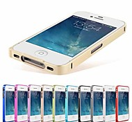 Ultra-thin Metal Aluminum Luxury Bumper Frame Case for iPhone 4/4S (Assorted Colors)