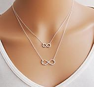 moda shixin® suerte 8 forma colgante collar de aleación (1 unidad)