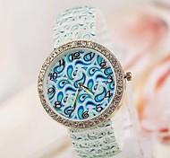 Women's Fashion Personality Popular Jelly Luminous Colours Strap Watch