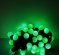 5M 50 LEDs Christmas Halloween decorative lights festive strip lights-Light green beads (220V)