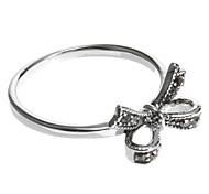 anéis europeu banda diamate bowknot (1 pc)