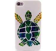 Turtle Pattern TPU Soft Case for iPhone 4/4S