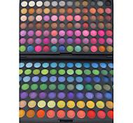 168 Palette de Fard à Paupières Mat / Lueur Fard à paupières palette Poudre Grand Maquillage de Fête