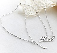 Classic HISS925 Silver Plated Platinum Necklace (1 Pc)