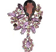 8.1cm Alloy and Rhinestone with Dangle Brooch Pin (More Colors)