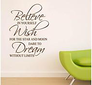 JiuBai™ Inspiration Quote Wall Sticker Wall Decal, 57cm*78cm