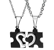 Silver Pendant Necklaces Titanium Steel Wedding / Party / Daily / Casual Jewelry