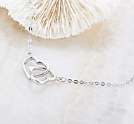 Classic LOVE&LOVE925 Silver Plated Platinum Necklace (1 Pc)