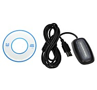 Wireless Gaming USB Adapter Receiver PC Controller for Microsoft XBOX 360 -Black