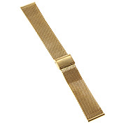 22mm High Quality Elegant Black/Gold Stainless Steel Watchband