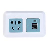 """Power Converter Socket Modern Dual USB Plastic L4"""" x W3"""" x H1"""""""